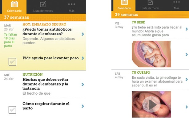 App Mi embarazo día a día de BabyCenter España