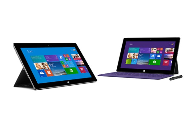 Microsoft Surface 2 y Surface Pro 2