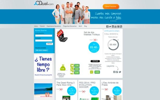 IQQUAL es un portal de compra colectiva que permite ganar dinero en metálico