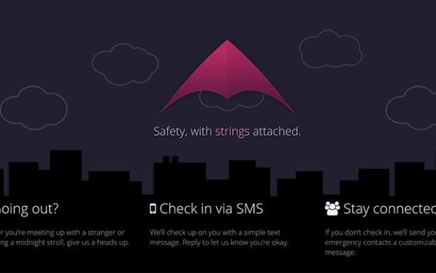 Kitestring es una aplicación web que proporciona un extra de seguridad en tus trayectos