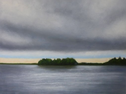 Dark clouds over water 2