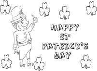 The Shamrock Coloring Page for the kids to enjoy
