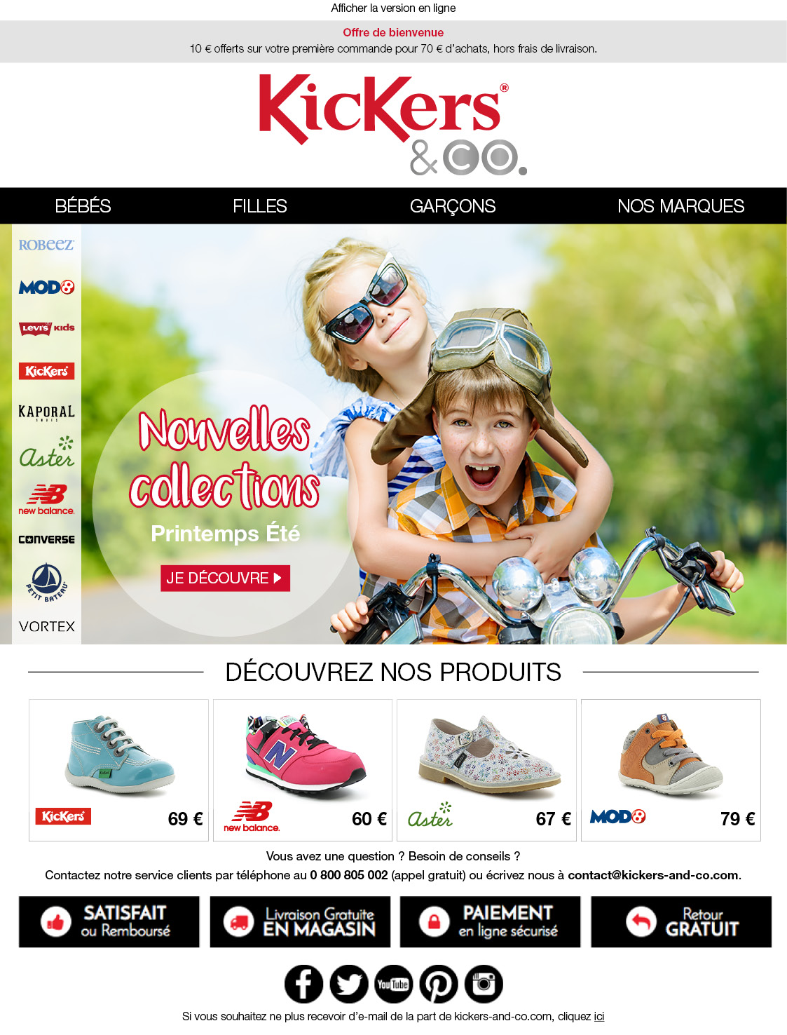 Newsletter Kickers and co - Groupe Royer