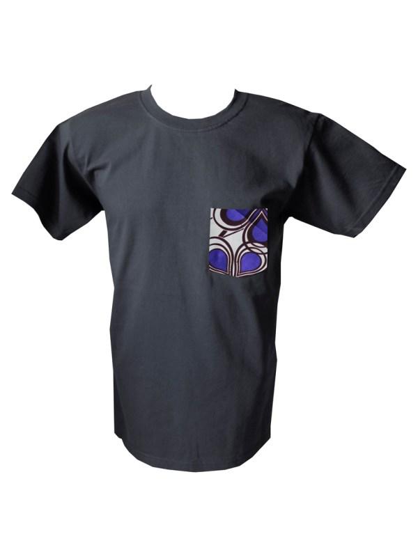 HIBOU Purple Cloud Mens Patch Pocket T-Shirt XLK