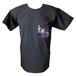 HIBOU Purple Cloud Mens Patch Pocket T-Shirt XLK