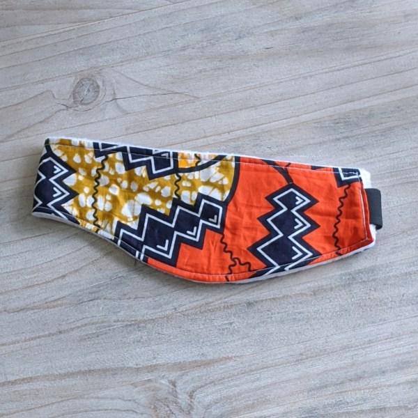 HIBOU Orange Zigzag Winter Cozy Headband a