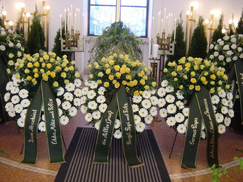 Trauerkrnze und Trauerfloristik  Friedhofsgrtnerei in Wien
