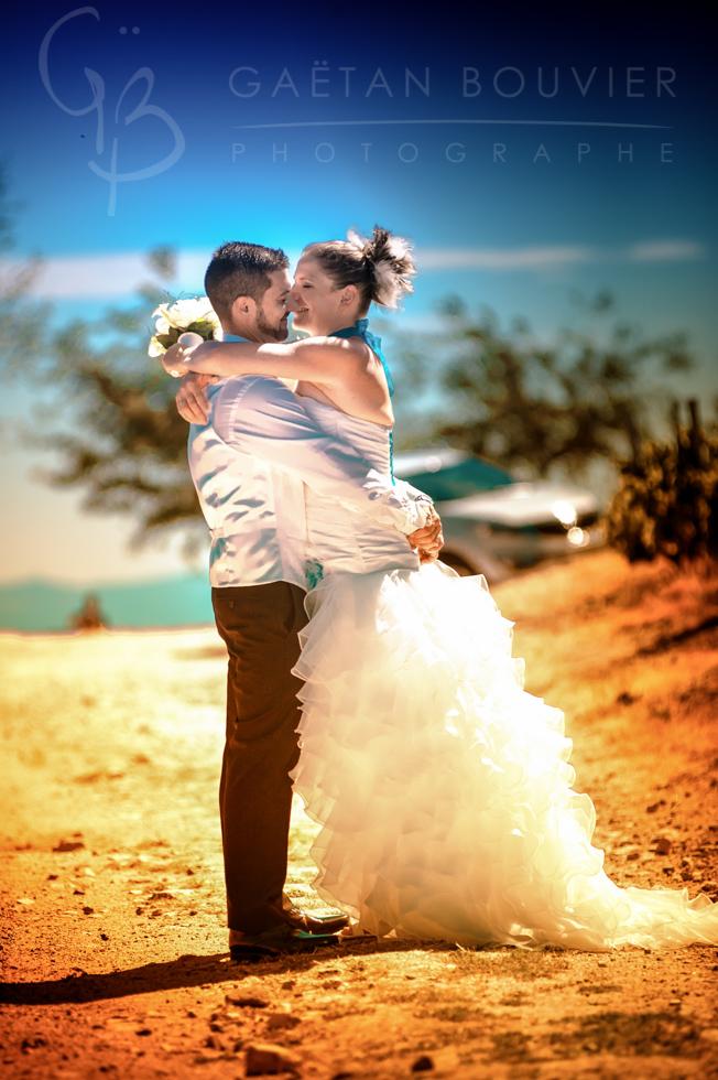 Photo de couple de jeune mariée
