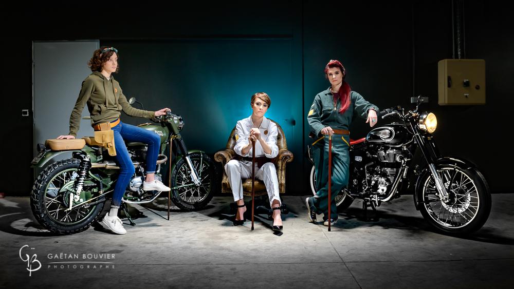 Ines-Keira-Soares-Emilie-Lecuelle-Atelier-Orange- Mecanique-Moto-Royal- Enfield-La-cabane-à- pois-Photographe-Gaetan-Bouvier-Mâcon