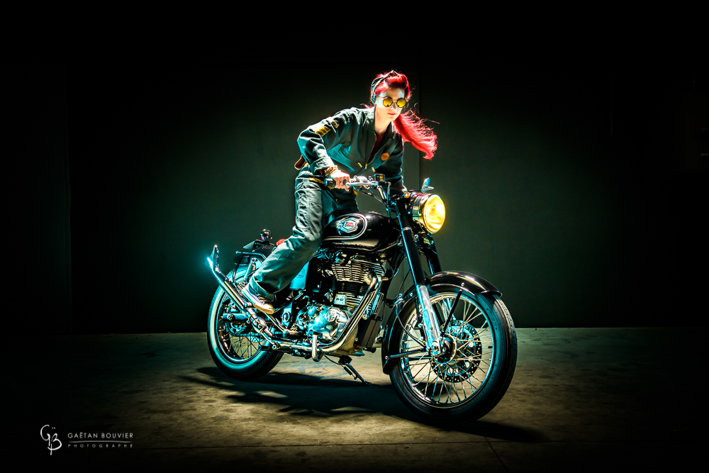 Atelier Orange Mecanique-Moto-Royal- Enfield-Emilie Lecuelle-Photographe-Gaetan-Bouvier-Belleville-Tournus-Macon