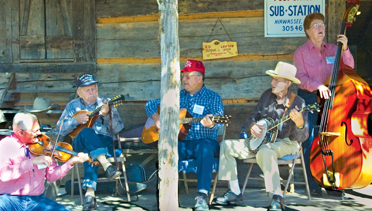 old fashioned pickers at georgia mountain fairgrounds festival