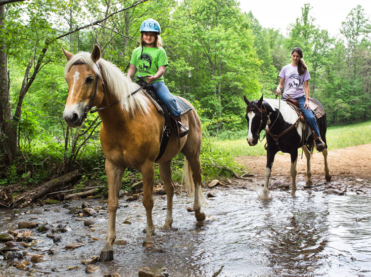 horseback riding at Trackrock Stables