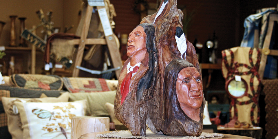 Indian head carving