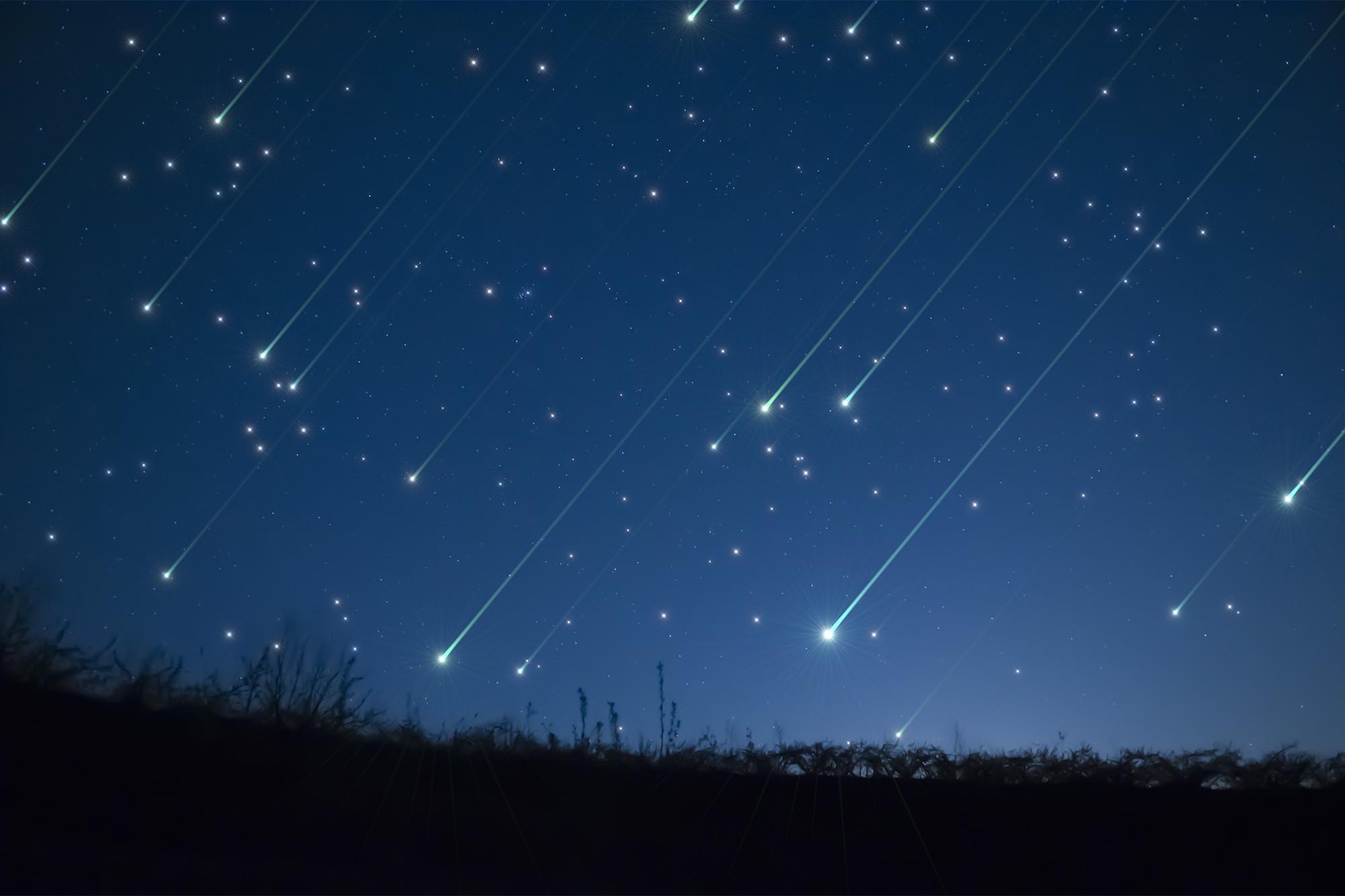 Lyrid Meteor Showers Shooting Over Georgia Dates