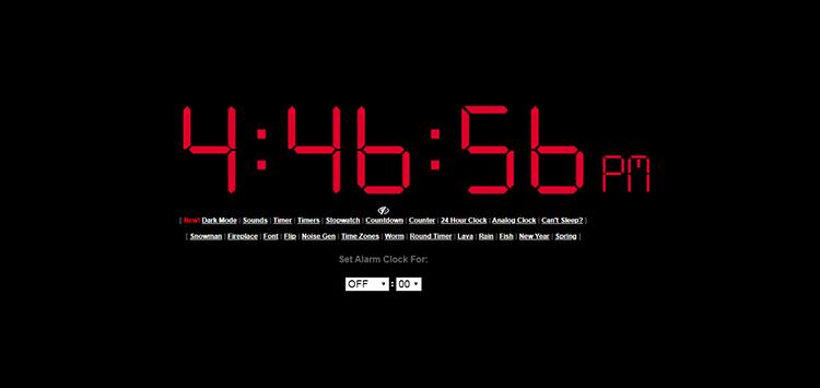 Online clock image