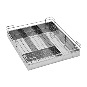 PERFORATED CUTLERY BASKET (4″ HEIGHT X 21″ WIDTH X 20″ DEPTH) 5MM WIRE STAINLESS STEEL