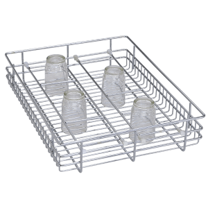 Glass Basket ( 4″ Height X 12″ Width X 20″ Depth ) Stainless Steel