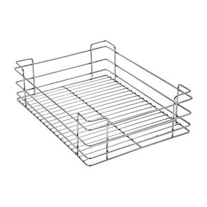 PLAIN DRAWER BASKET (4″ HEIGHT X 19″ WIDTH X 20″ DEPTH) 5MM WIRE STAINLESS STEEL