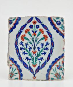 Esemplare di piastrella turca, seconda metà del XVI secolo