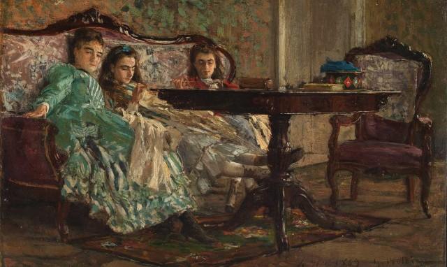 Giovanni Boldini, Le sorelle Lascaraky, 1869