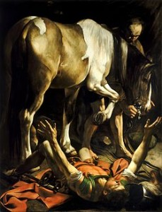 250px-Conversion_on_the_Way_to_Damascus-Caravaggio_(c.1600-1)