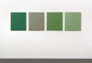 R.Baruzzi, Sette chili di quattro verdi, matita su olio su tavola: pencil on oil on board, 4 boards, cm.70x60 each (ph.D.Lasagni)