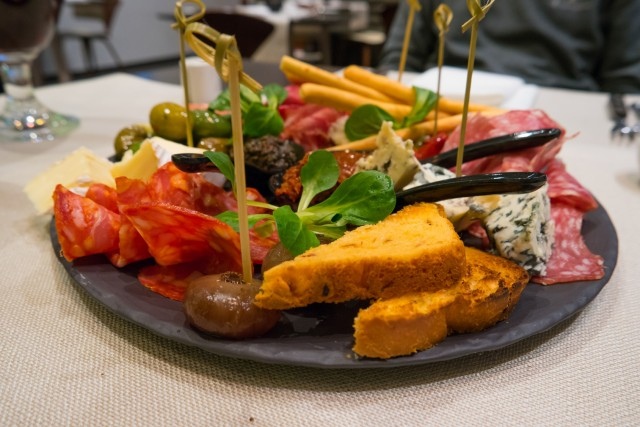 Mixed italian appetizers plate
