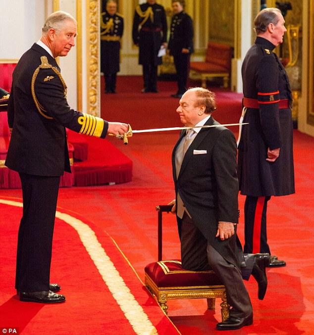 Van Morrison con il Principe Carlo