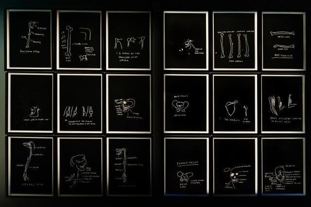 Jean-Michel Basquiat, Anatomy, 1982 @ MUDEC - foto di Carlotta Coppo