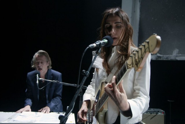 James Johnston con PJ Harvey