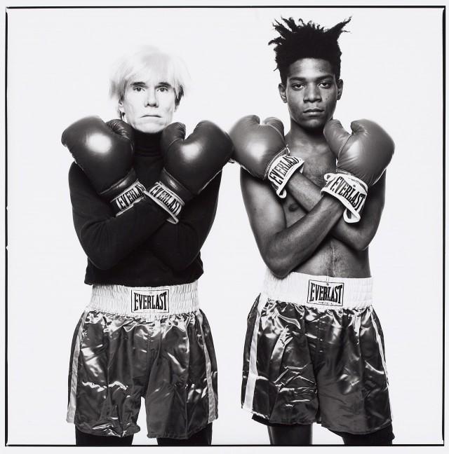 Andy Warhol e Jean-Michel Basquiat, 1985 - foto di Michael Halsband