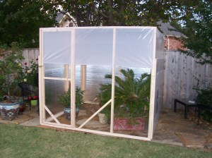 Greenhouse Front Framed Out