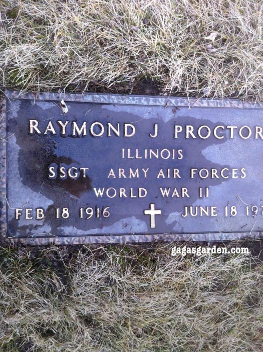 SSGT Raymond James Proctor Army Air Force, World War II