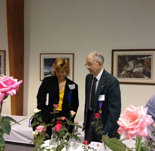 Diane Sommers and Dr. Tony Liberta, Rose Show Judges