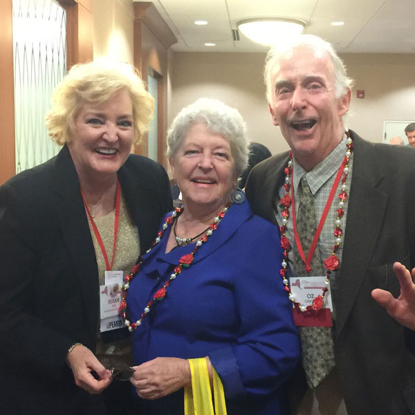 American Rose Society Past President, Jolene Adams, Education Champion and Oz Osborn