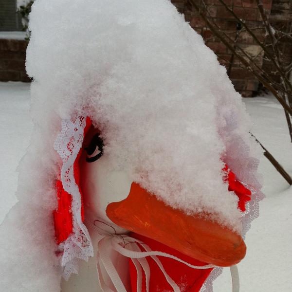 Goose Girl in Snow