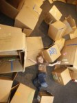 Kids' Imaginations Take Off with Cardboard Cartons