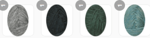 Yarn colors with light grey main color
