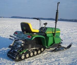 Badass John Deere Snowmobile