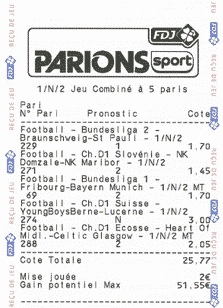 ticket parions sport