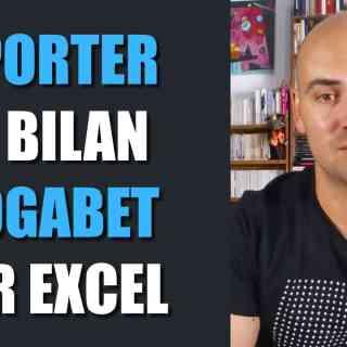 Exporter un bilan Blogabet sur Excel