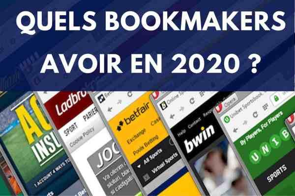 Liste des bookmakers à avoir en 2020