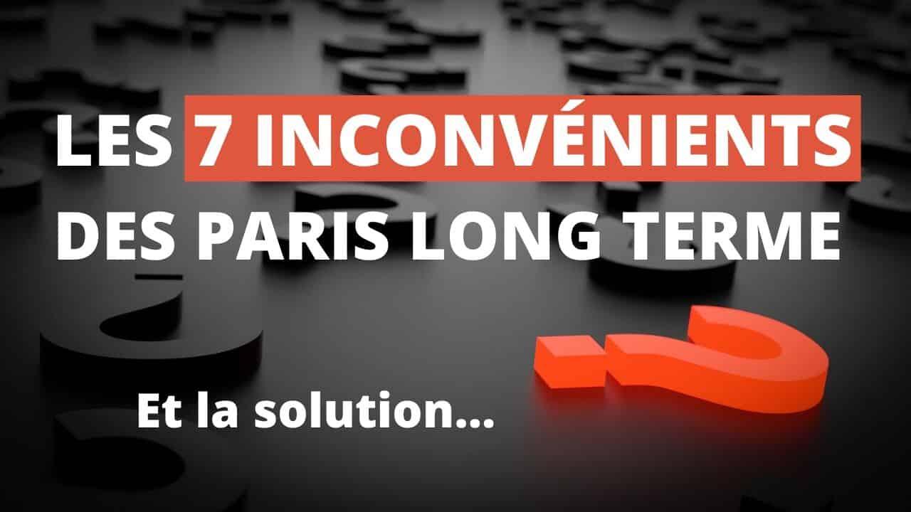 Les 7 inconvénients des paris long terme