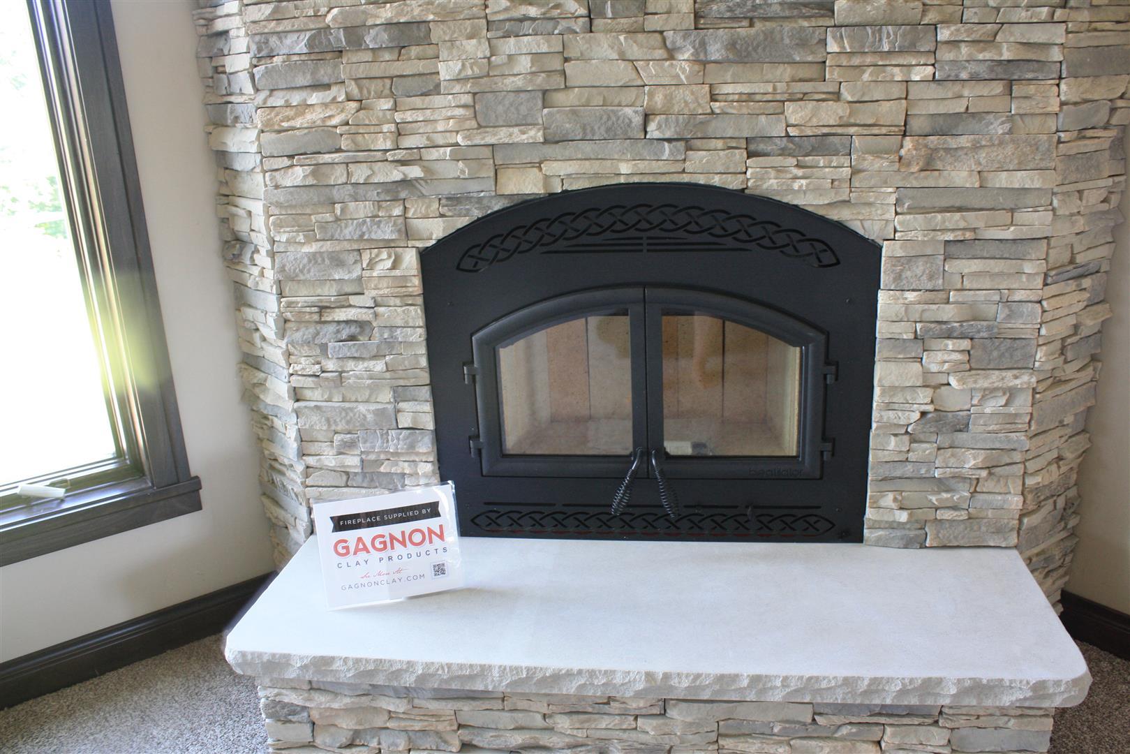 Heatilator Constitution w Eldorado Alderwood Stacked Stone  Gagnon Clay Products