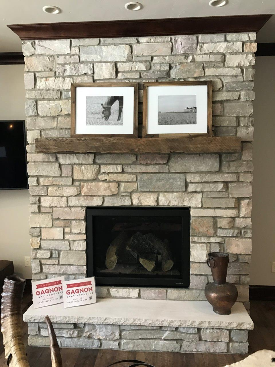 Halquist Chilton Ledgestone  Fireplace  Gagnon Clay Products