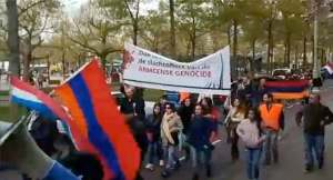 Rally in Amsterdam to commemorate the Armenian Genocide anniversary