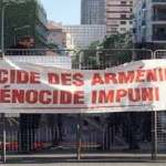 Lyon France Armenians stage protest near Turkey consulate general