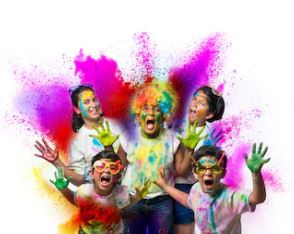 teenagers COLOR PARTY