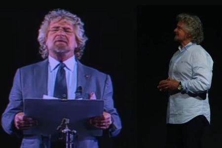 Beppe Grillo 29 Ologramma