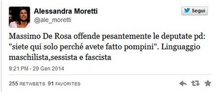 Tweet 00 Alessandra Moretti Fellatio